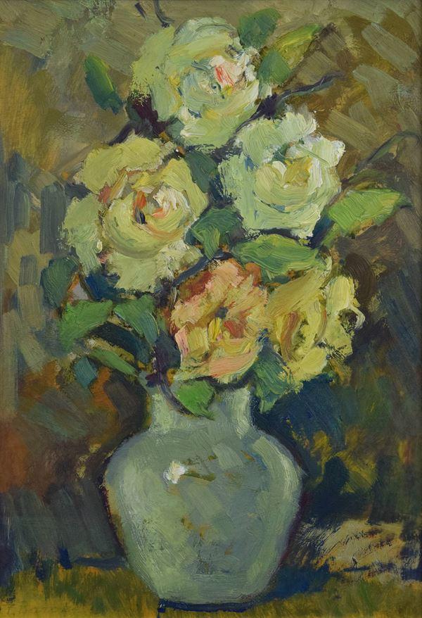 Felice  Baroni - Vaso di rose