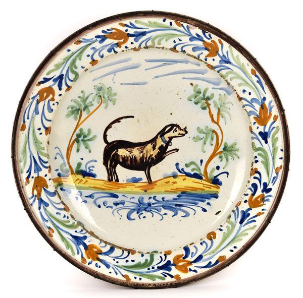 Grande piatto, Imola, fine XVIII secolo
