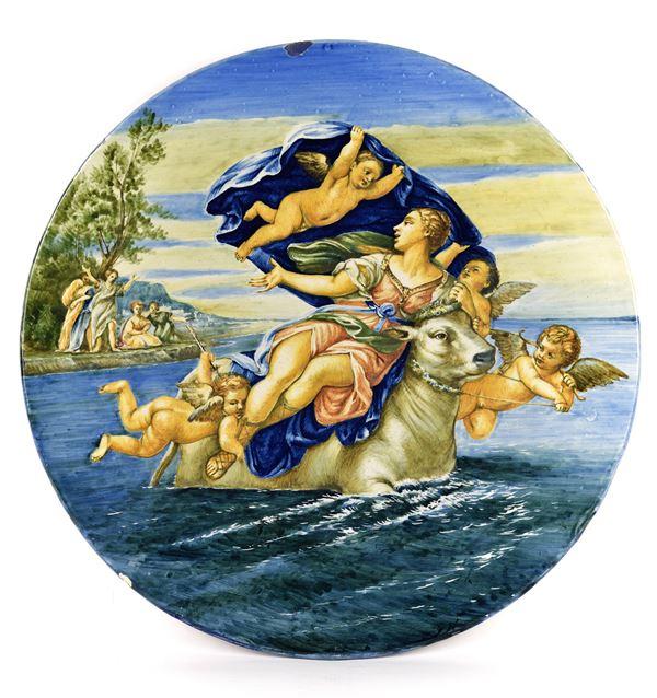 Manifattura Molaroni - Piatto istoriato, inizio del XX secolo