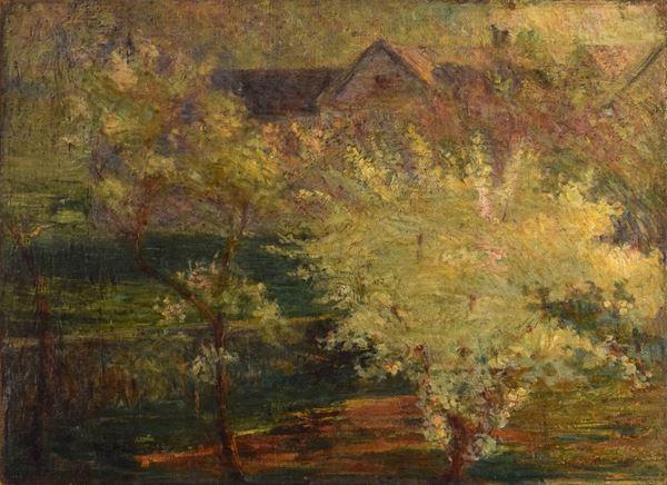 Roberto Sella - Paesaggio di campagna con case