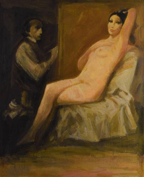 """Giuseppe Tampieri - """"Il pittore e la modella"""""""