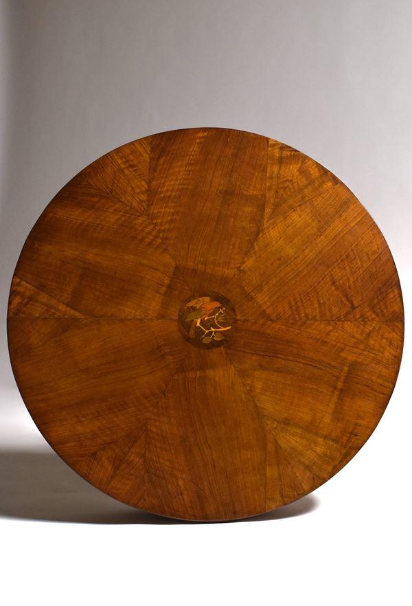 Tavolino tondo, Faenza, XIX secolo