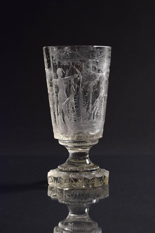 Bicchiere in cristallo molato